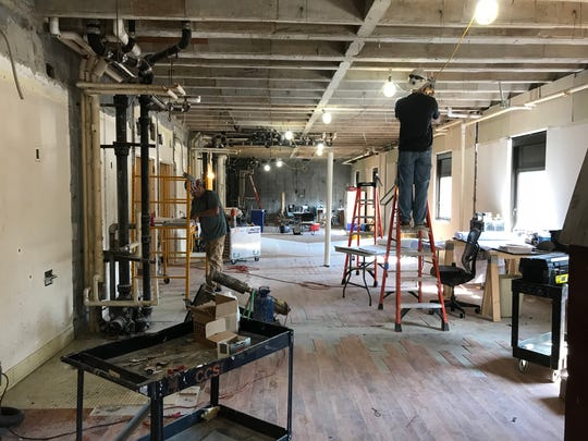 Construction crews continue renovation work on the