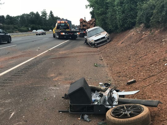 Southbound I-5 traffic was slowed, but not blocked by the minor-injury crash.