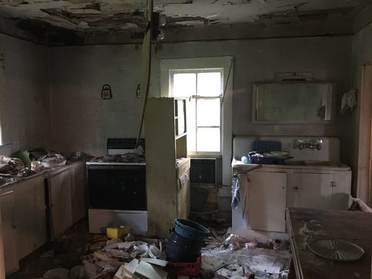 Before: The kitchen had to be stripped back to the studs.