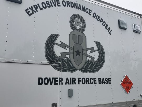FILE IMAGE. The Dover Air Force Base explosives disposal logo