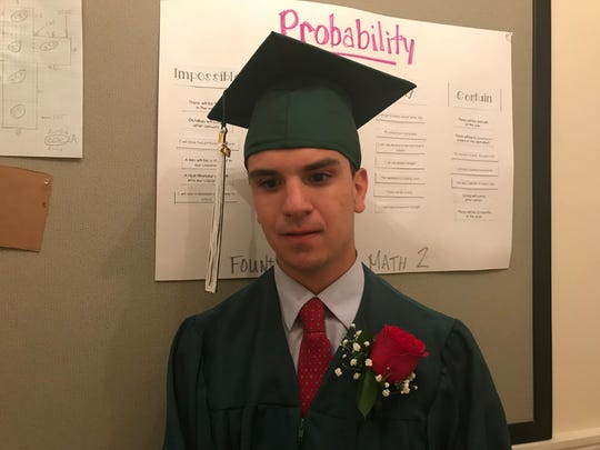 Jonathan Bossy of Cheshire CT is a member of the graduating class.