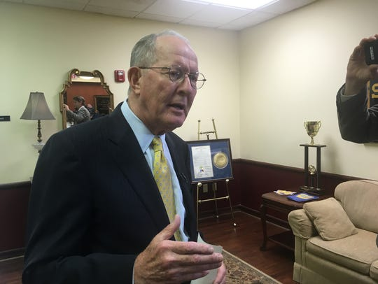 Sen. Lamar Alexander talks before a Williamson County