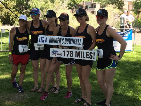 The 'Hot Wheels Six Pack' team was first in the women's division, seventh overall.