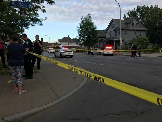 Rochester police on scene of a hit-and-run incident
