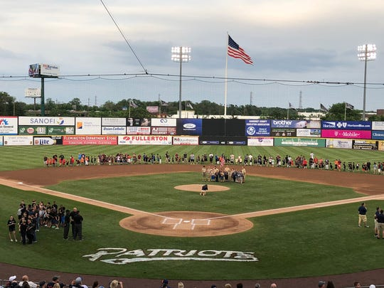 Before the June 2 Somerset Patriots game, different