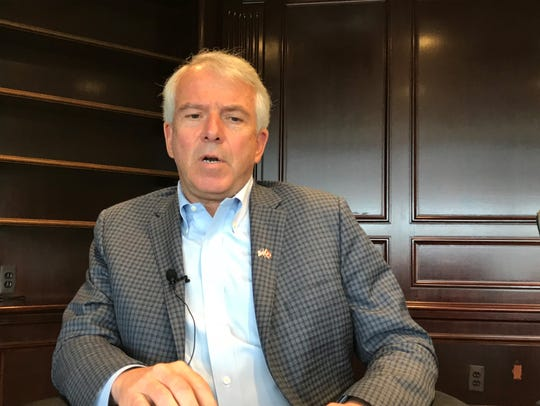 Republican U.S. Senate candidate Bob Hugin during a