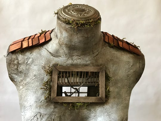 """The Forgotten,"" a  work by Juli Steel is part of BadAss Miniatures: ...Causing a Little Trouble at  The Gallery of Small Art  at D. Thomas Fine Miniatures YoHo Artists Studios in Yonkers."