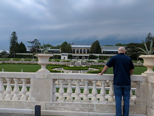Producing Artistic Director David Stradley considers performance locations during a recent visit to Longwood Gardens.