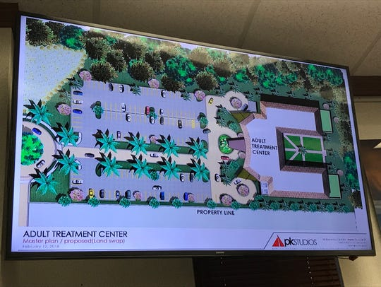 A rendering of a proposed adult treatment center that