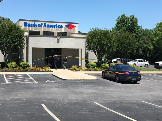 Deputies were on scene of a bank robbery in Greenville County Wednesday afternoon.