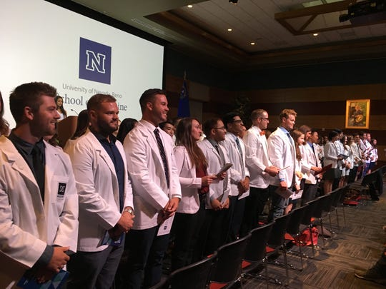 A ceremony for students at the University of Nevada, Reno Medical School