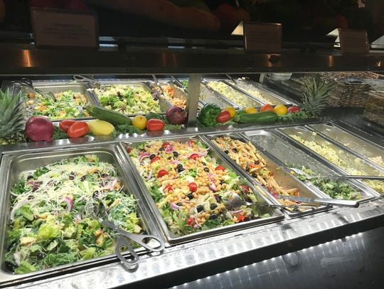 The salad bar at Mario's