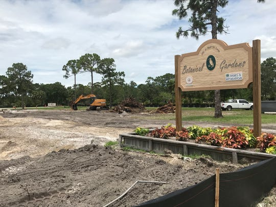 Construction started in May on the new park on Westmoreland Boulevard near the Port St. Lucie Botanical Gardens.