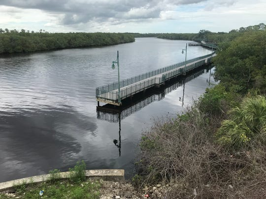 Port St. Lucie's Riverwalk Boardwalk ends north of