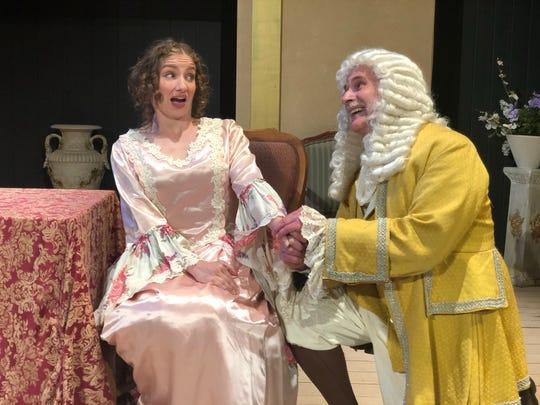 Kara Penrose as Mariane and Michael Chobanoff as Orgon