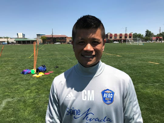 Reno 1868 FC assistant coach Chris Malenab