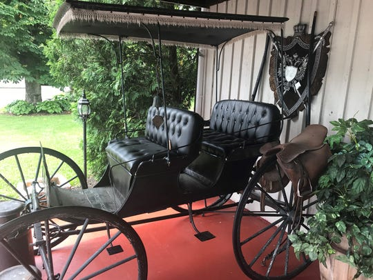 A carriage on display at the Jerris Wadsworth Estate