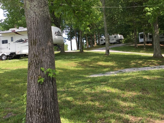 Some of the 50 campsites at Cane Creek Boat Dock are