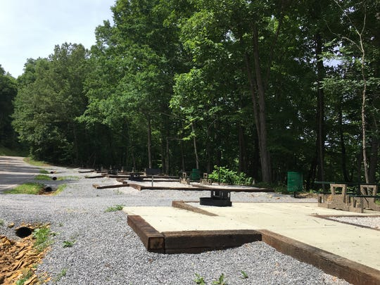 Some tent camping sites, included a couple with handicap access, are completed at Danville Park by Kentucky Lake in Houston County. The county mayor said people may begin using the campsites while work continues on other parts of the park.