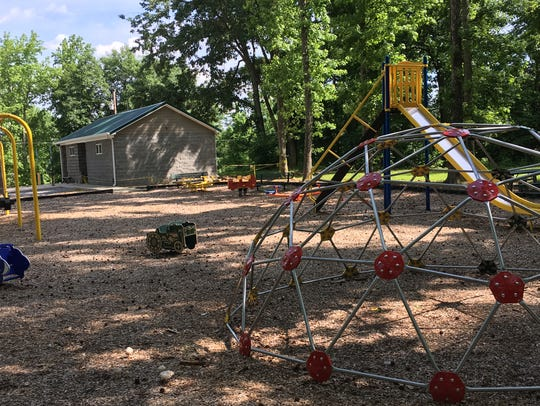 A playground area has been completed at Danville Park