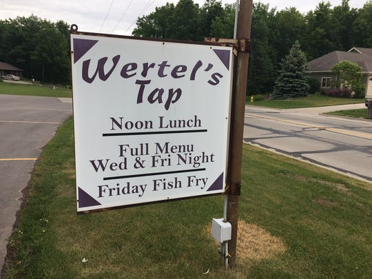 This is about as much advertising as Wertel's Tap has
