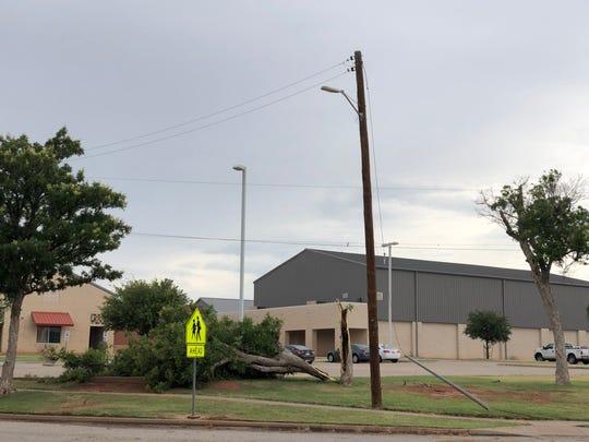 Storm damage near Scotland Elementary School