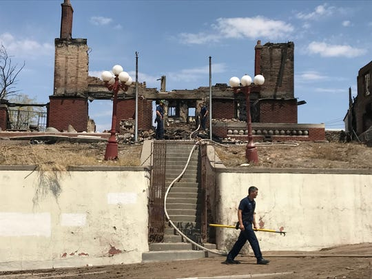 A home designed by Henry C. Trost in the 1500 block of Golden Hill Terrace burned down Friday morning. The El Paso Fire Department said the next door house also caught fire and burned down.