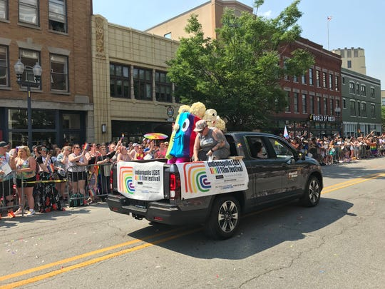 Pride popcorn wowed the crowds on this float for the Cadillac Barbie Pride Parade at Indy Pride Fest on June 9, 2018.