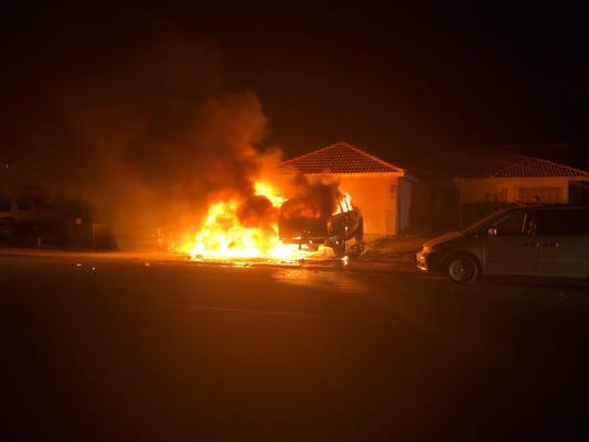 Mesquite car fire