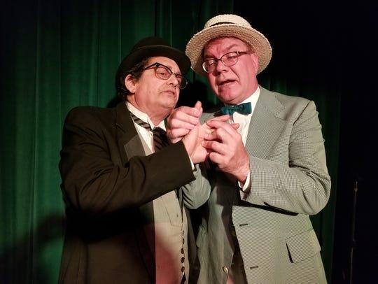 Mayor Shinn (Jeff Richards, left) is no match for con