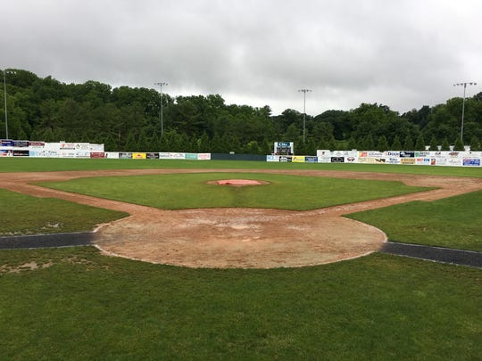 Cloudy, rainy days like the one Monday at Moxie Memorial Stadium have been the norm so far in June as the Valley Baseball League has struggled with getting games played.
