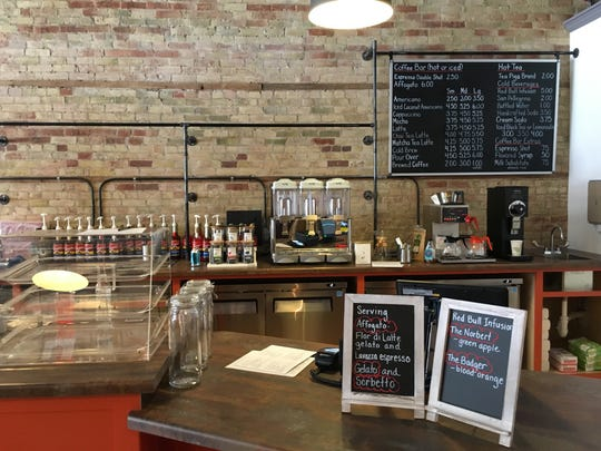 Affogato Bar, 109 N. Broadway, in De Pere, converted half of the former Bilotti's Pizza Garden into a cafe with artisan gelato.