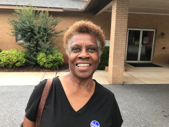 Malinda Peter voted in primary election at Devenger
