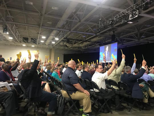 Southern Baptists in Dallas attending the annual meeting