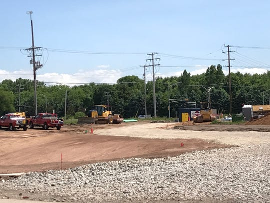 Site of the future Community First Credit Union in Menasha.