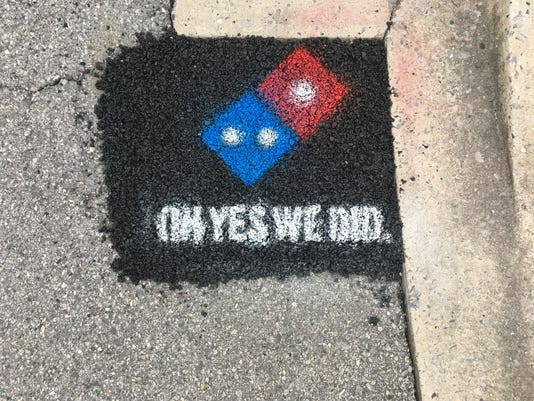 After Domino's pothole.JPG