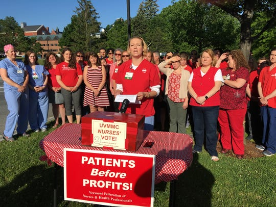 University of Vermont Medical Center nurses gather