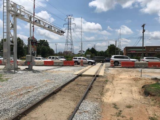 A Carolina Piedmont Railroad owned track crosses Woodruff