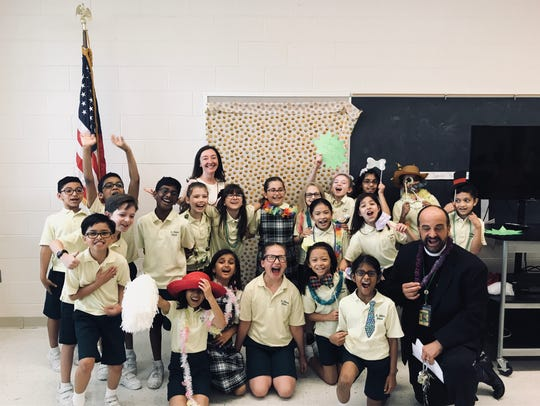 Jennifer Pitoscia's third grade class at St. Helena's School, Edison, honored the special people in their lives with a ceremony.