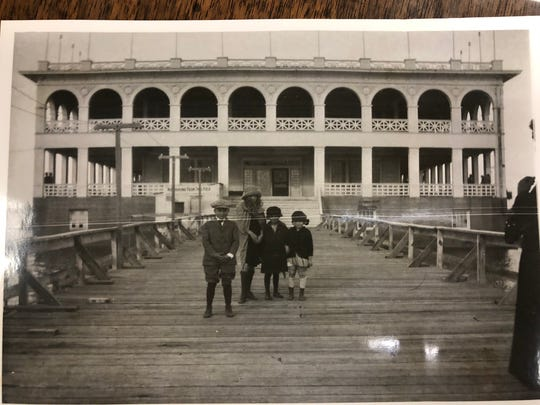 One of two old photos of the Lake Wichita pavilion recently donated to the Lake Wichita Revitalization Committee. The group is hoping to have a historical subcommittee who could collect photos and other memorabilia from the lake's heyday.