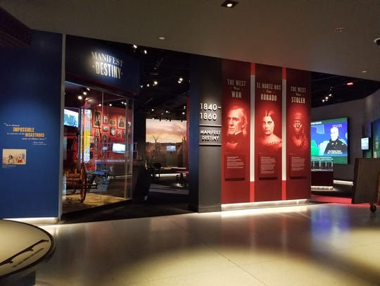 The introduction to the Manifest Destiny Exhibit at