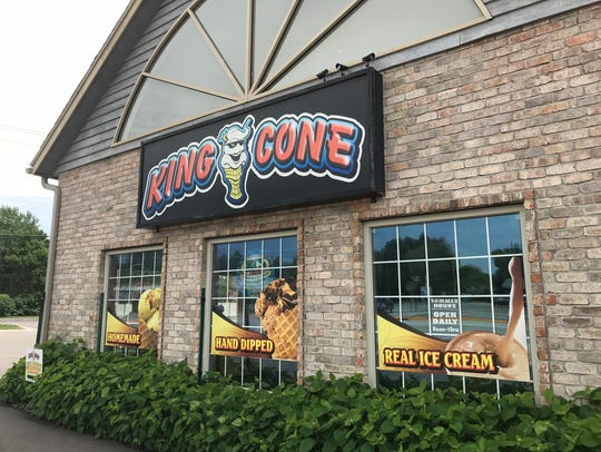 King Cone ice cream shops are located in Amherst, Wisconsin