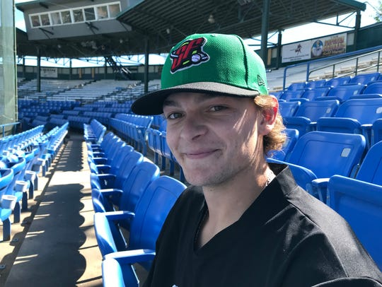 Codi Heuer of the Great Falls Voyagers starred at Wichita