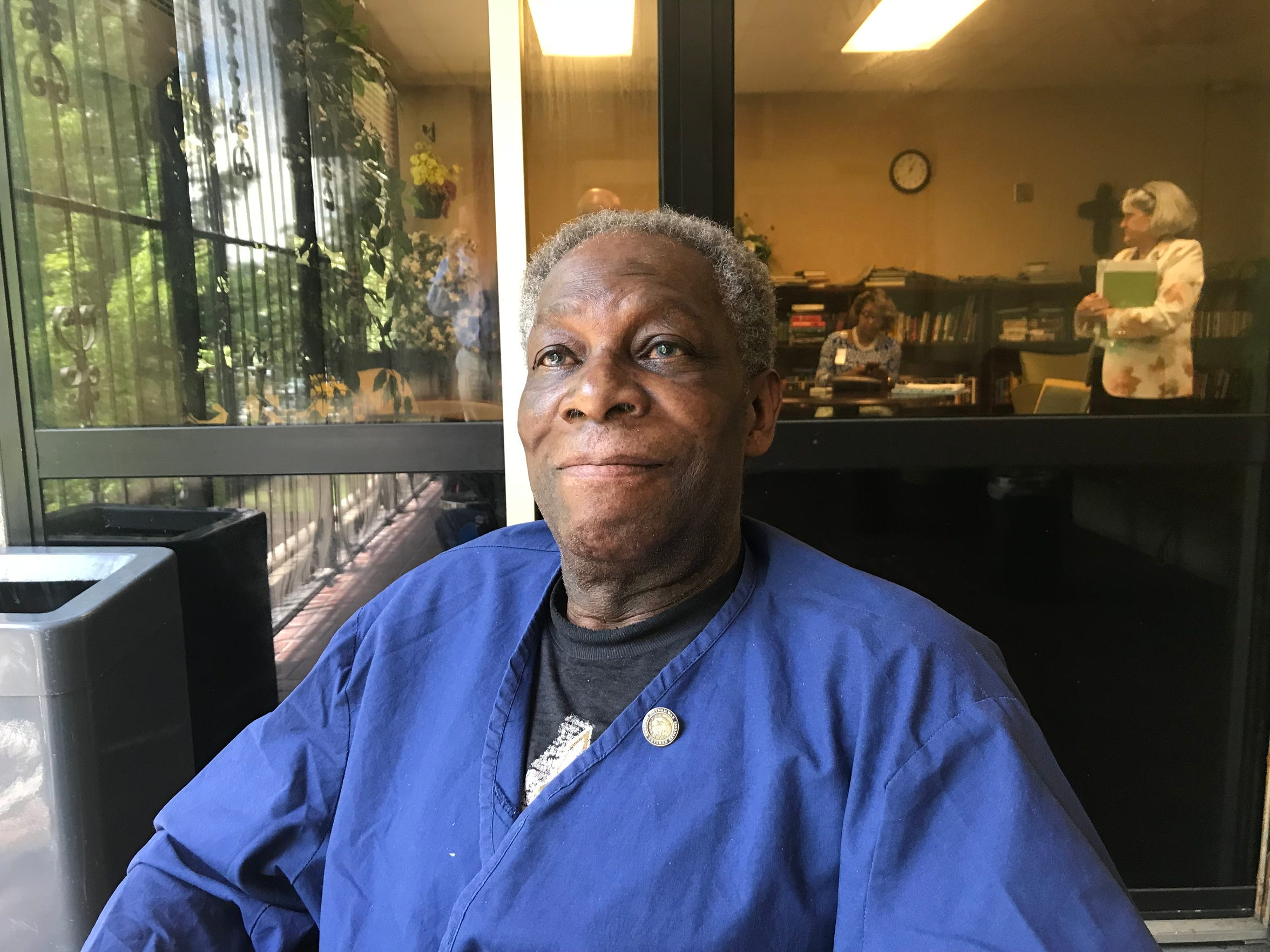 "Wiley Pittman, a short-stay resident at the G.V. ""Sonny"" Montgomery VA Medical Center community living center, said he's grateful to receive care from the facility."