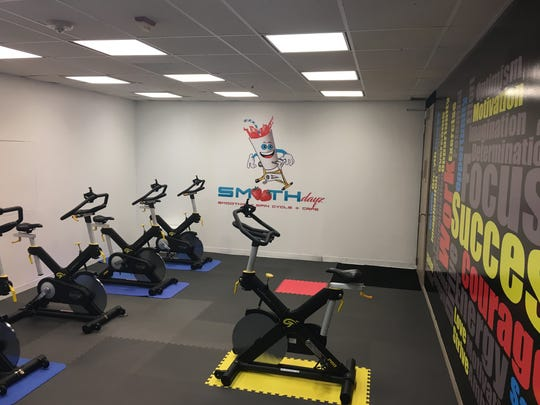 In addition to smoothies, Smoothdayz offers rides within its spin cycle room at Chase Tower in downtown Shreveport.