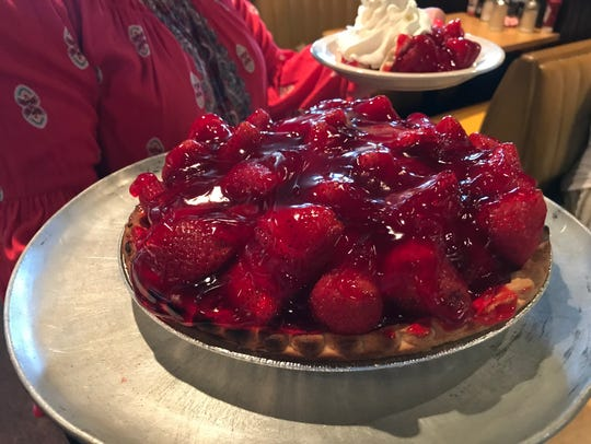 Strawberry pie at Phil's Inn.