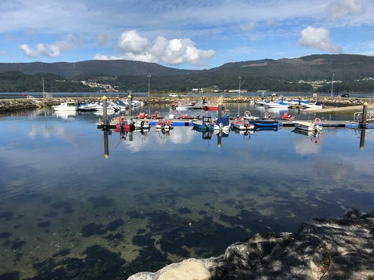 The Camino arrives at a beautiful waterfront town named