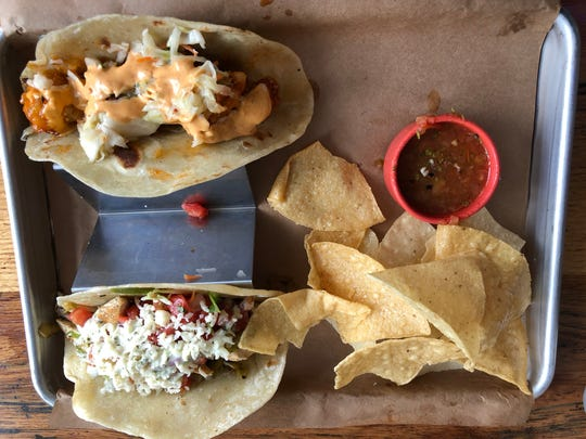 The Mojo's Tacos lunch special includes two tacos,