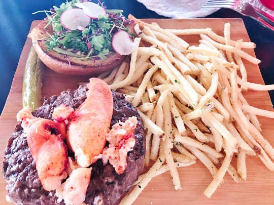 Cobb's Landing's Kennebunkport Surf & Turf Burger was