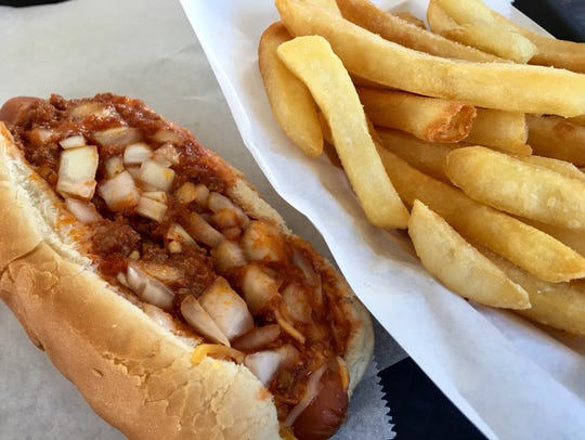 The chili dog at Arbetter's in Cocoa comes with a generous